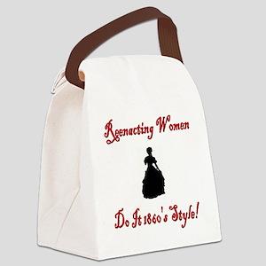 Civil War Reenacting Women Canvas Lunch Bag