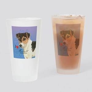 russell terrier Drinking Glass