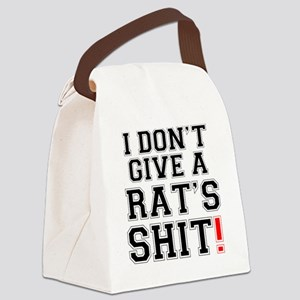 I DONT GIVE A RATS SHIT Canvas Lunch Bag