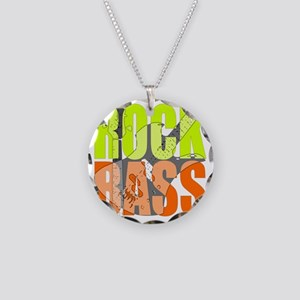 ROCK_BASS Necklace Circle Charm