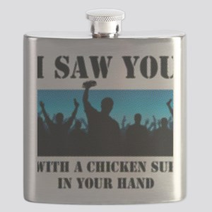 Chicken Sub Halftone Pattern Flask