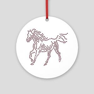 Rhinestone Horse Round Ornament