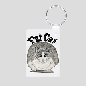 Fat Cat Aluminum Photo Keychain