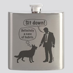 Cartoon, dog & lordling: Sit down! Case of h Flask