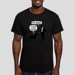 Cartoon, dog & lordlin Men's Fitted T-Shirt (dark)