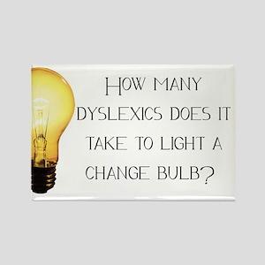 Light A Change Bulb Rectangle Magnet