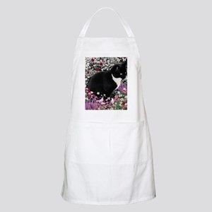 Freckles the Tux Cat in Flowers II Apron