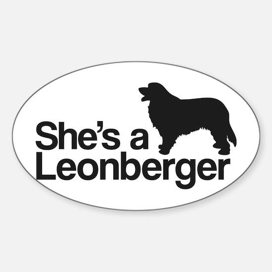 She's a Leonberger Sticker (Oval)