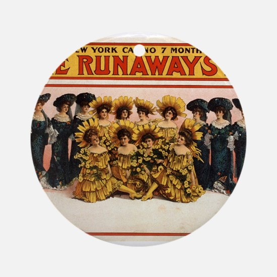 The runaways - US Lithograph - 1908 Round Ornament