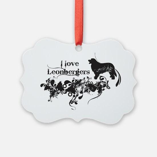 I Love Leonbergers Ornament