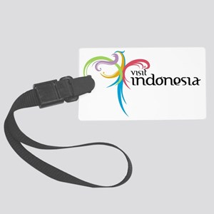 Visit Indonesia Large Luggage Tag