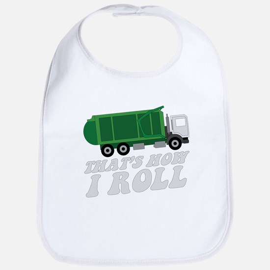 Garbage Truck Baby Bib