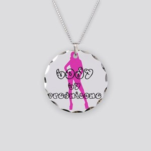 Body by Prednisone Necklace Circle Charm