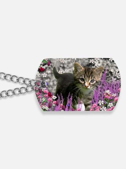 Emma Tabby Kitten in Flowers I Dog Tags
