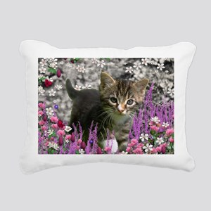 Emma the Gray Kitty in B Rectangular Canvas Pillow