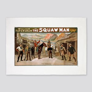 Squaw man 3 - Courier Co - 1905 5'x7'Area Rug