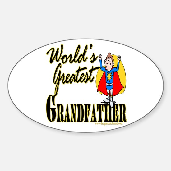 Super Grandfather Oval Decal