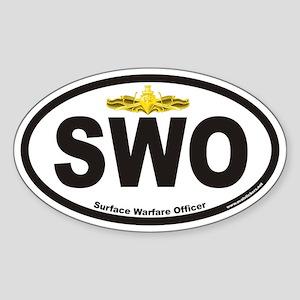Surface Warfare Officer SWO Oval Sticker
