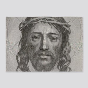 Jesus!  All Over! 5'x7'Area Rug