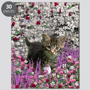 Emma Tabby Kitten in Flowers I Puzzle