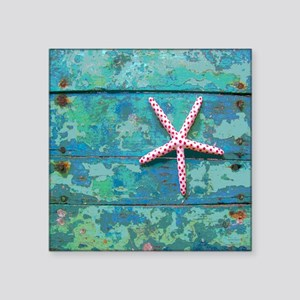 "Starfish and Turquoise Seas Square Sticker 3"" x 3"""
