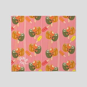 Slothsicle Throw Blanket