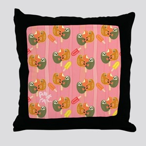 Slothsicle Throw Pillow