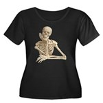 Skeleton Pal Women's Plus Size Scoop Neck Dark Tee