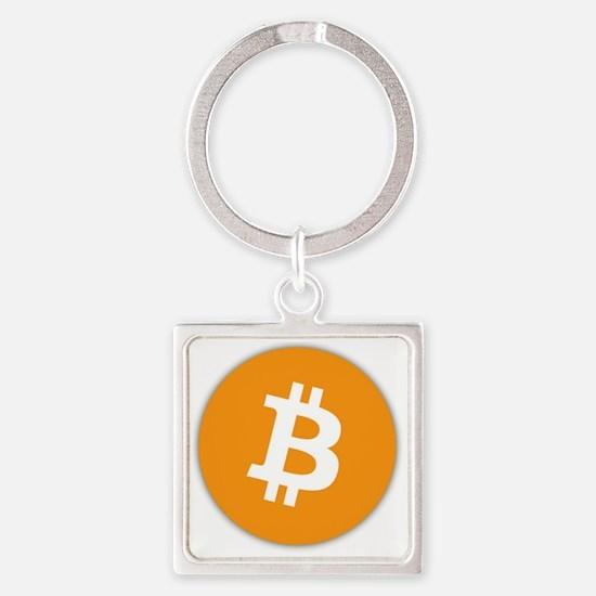 Bitcoin Logo Square Keychain