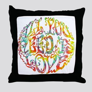 all-need-love-513-tdye-T Throw Pillow
