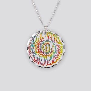 all-need-love-513-tdye-T Necklace Circle Charm