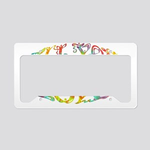 all-need-love-OV-tdye-T License Plate Holder