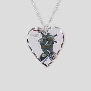 Mr. Mole Image Necklace Heart Charm