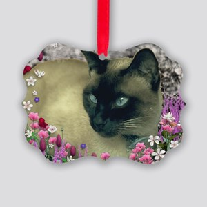 Stella Chocolate Point Siamese Fl Picture Ornament