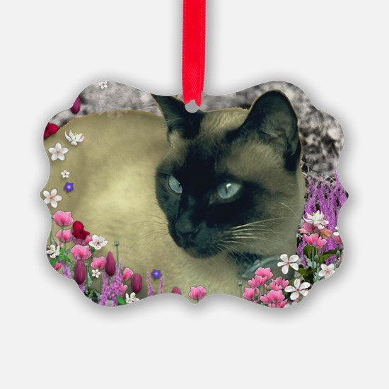 Stella Chocolate Point Siamese Fl Ornament