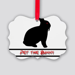 Pet the Bunny Picture Ornament