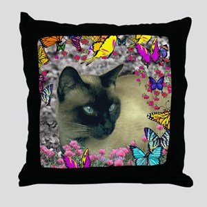 Stella Chocolate Point Siamese Butter Throw Pillow