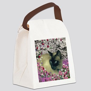 Stella Chocolate Point Siamese Fl Canvas Lunch Bag