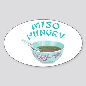 Miso Hungry Sticker (Oval)