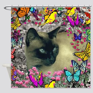 Stella Chocolate Point Siamese Butt Shower Curtain