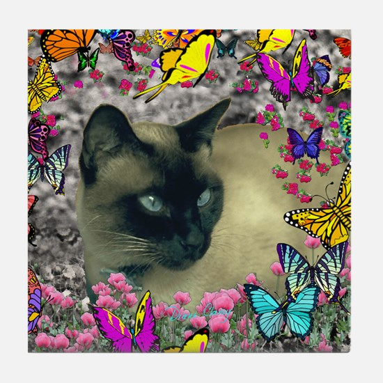 Stella Chocolate Point Siamese Butter Tile Coaster