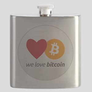 we love bitcoin Flask