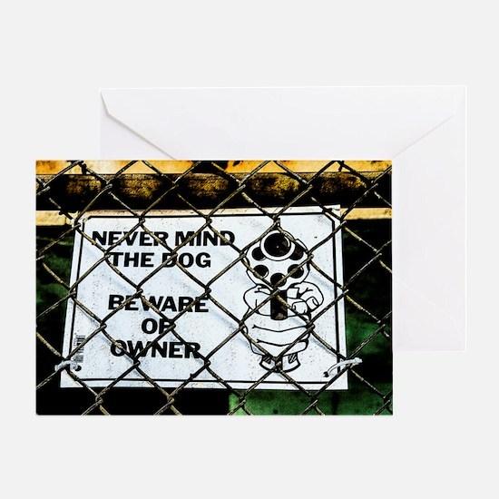 Beware of owner Greeting Card