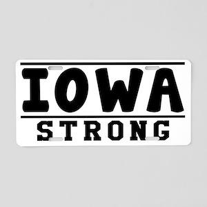 Iowa Strong Designs Aluminum License Plate