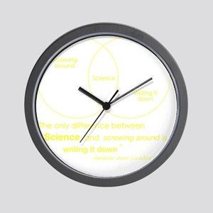 Mythbusters Science Quote (yellow) Wall Clock