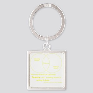 Mythbusters Science Quote (yellow) Square Keychain