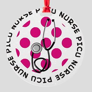 PICU Nurse round pendant 1 Round Ornament