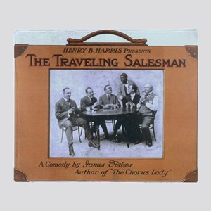 Traveling salesman - US Lithograph - 1908 Throw Bl