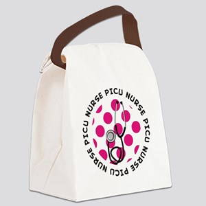 PICU Nurse round pendant 1 Canvas Lunch Bag