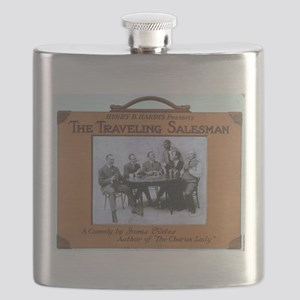Traveling salesman - US Lithograph - 1908 Flask